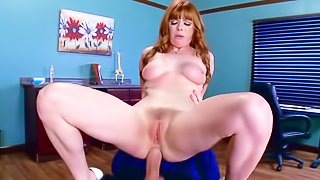 Ginger woman is getting fucked hard
