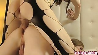 Tranny barebacking tight ass doggystyle