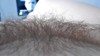 playing with hairy pussy